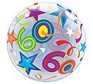 "22"" PKG 60TH BIRTHDAY BUBBLE BALLOON 1st Alternate Image"