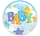"22"" PKG BABY BOY BUBBLE BALLOON"