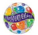 "22"" PKG CONGRATULATIONS BUBBLE BALLOON"