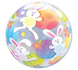 """22"""" PACKAGED EASTER BUBBLE BALLOON"""