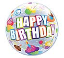 "22"" PKG HAPPY BIRTHDAY BUBBLE BALLOON"