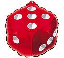 "18"" GEN RED DICE SHAPE"