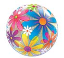 "22"" PKG FLOWER PRINT BUBBLE BALLOON"