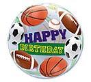 "22"" PKG BIRTHDAY SPORTS BALLS BUBBLE BAL"