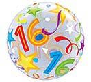 "22"" PKG 16TH BIRTHDAY BUBBLE BALLOON 1st Alternate Image"