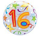 "22"" PKG 16TH BIRTHDAY BUBBLE BALLOON"