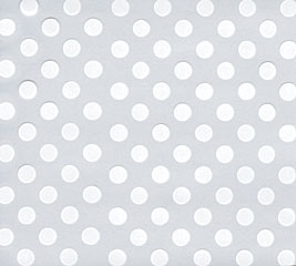 20X20 CELLO WHT DOTS