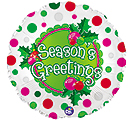 "17"" SEASON'S GREETINGS BALLOON"