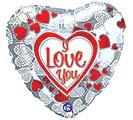 """17""""ILY MOSAIC HEARTS"""