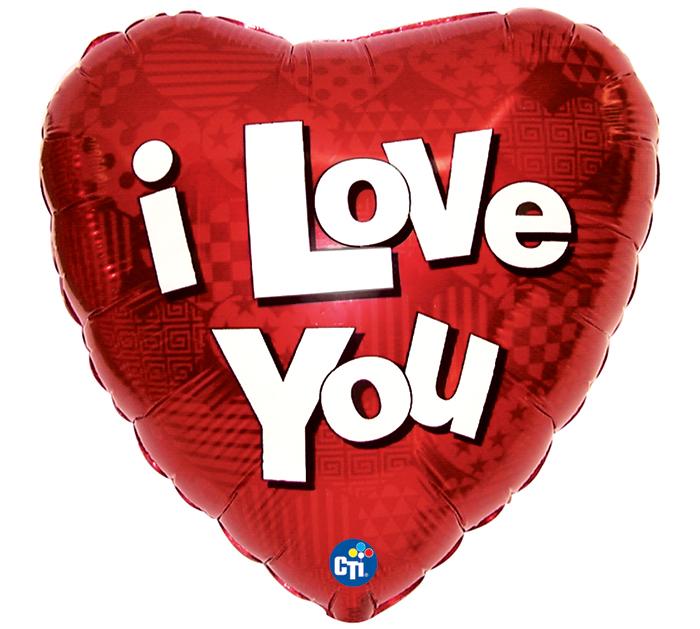 "17"" I LOVE YOU HEART"