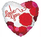 """17""""HVD I LOVE YOU BIG ROSES"""