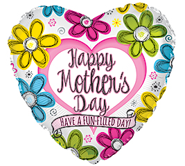 """17""""HMD FUN-FILLED MOTHER'S DAY HEART"""