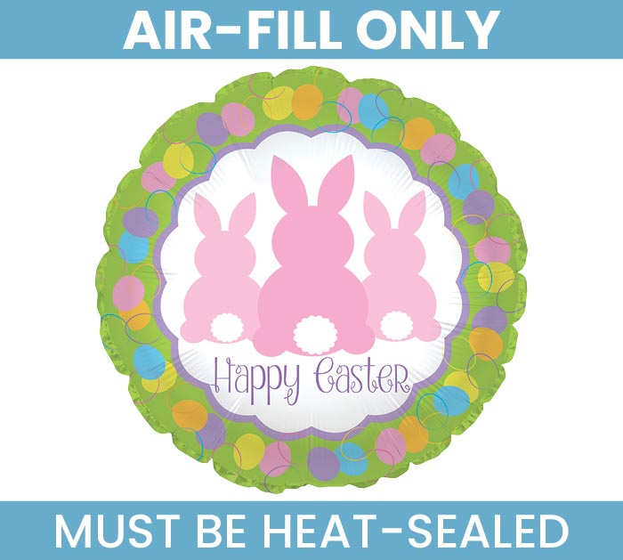 """9""""FLAT EASTER BUNNY TAILS"""