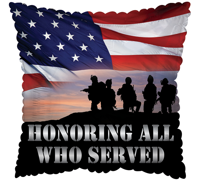 "17"" HONORING ALL WHO SERVED SQUARE"