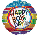 "9""INFLATED BOSS'S DAY YOU'RE THE BEST"