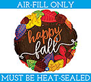 "9""FLAT HAPPY FALL LEAVES"