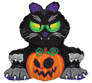 "37""HAL BLACK CAT  PUMPKIN"