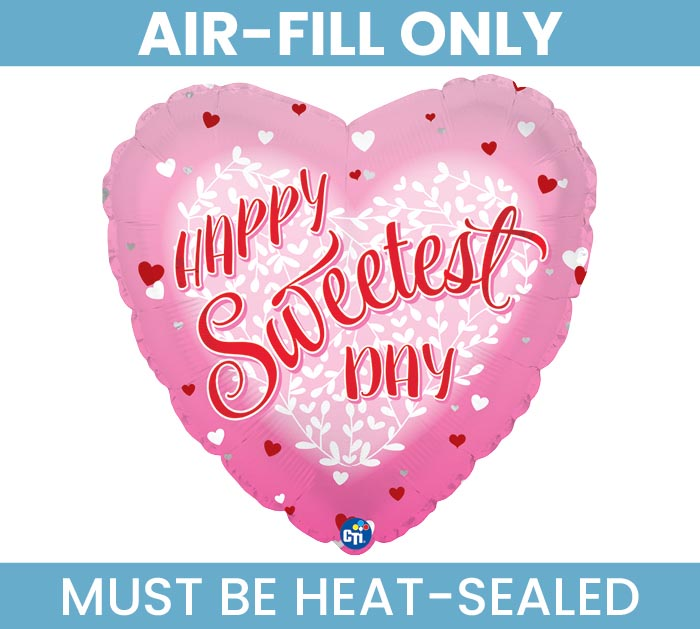 "9""FLAT HSD SWEETEST DAY HEART"