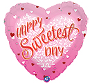 "9""INFLATED SWEETEST DAY PINK HEART"