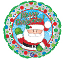 "17""XMA WAVING SANTA AND POLKA DOTS"