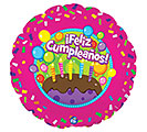 """17""""PKG SPA FELIZ CUMPLEANOS CAKE"""