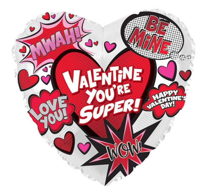 """17"""" SUPER VALENTINE HEART"""
