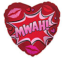 "17"" MWAH KISS HEART"