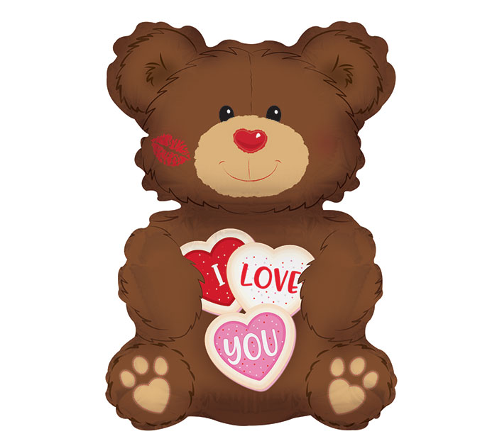 "36"" I LOVE YOU COOKIE BEAR SHAPE"