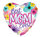 "17"" BEST MOM EVER WATERCOLOR FLOWERS"