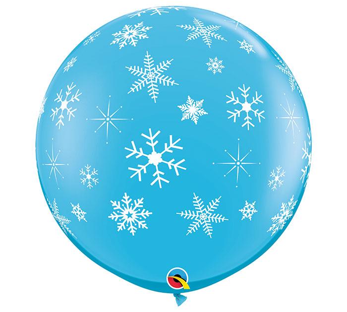 3' SNOWFLAKES  SPARKLES LATEX