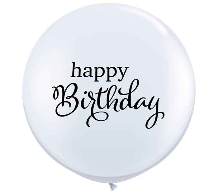 3' SIMPLY HAPPY BIRTHDAY LATEX BALLOON