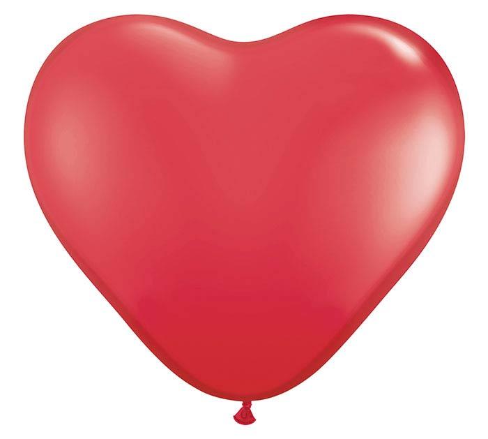 3' STANDARD RED HEART SHAPE