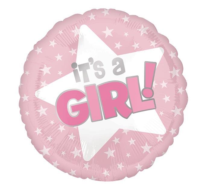 """18""""PKG IT'S A GIRL STARS"""