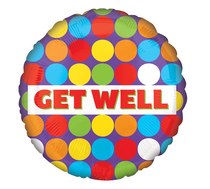 "18""PKG GET WELL COLORFUL DOTS"