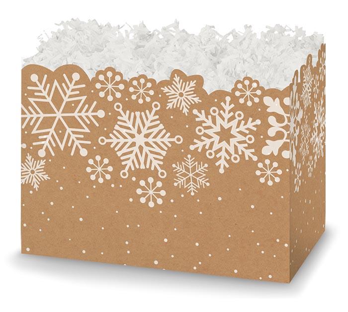 SMALL BOX KRAFT SNOWFLAKES