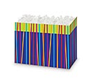 SMALL BOX FESTIVE STRIPES