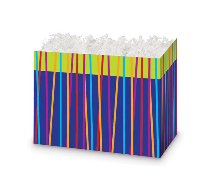 SMALL FESTIVE STRIPES BASKET BOX