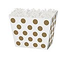 SMALL BOX METALLIC GOLD DOTS ANGLED BOX
