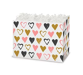 SMALL BOX METALLIC HEARTS