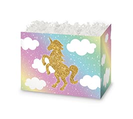 SMALL DIE CUT BOX GLITTER UNICORN