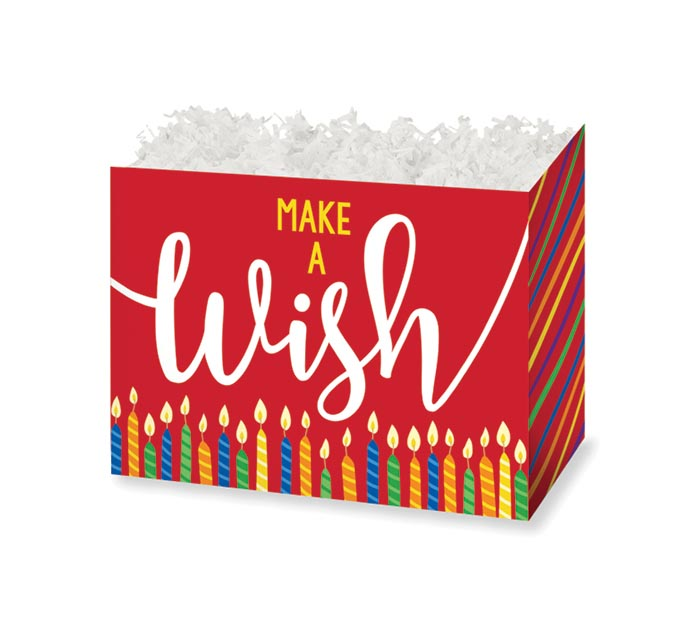 SMALL DIE CUT BOX MAKE A WISH CANDLES