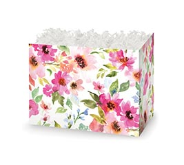SMALL DIE CUT BOX WATERCOLOR BOUQUET