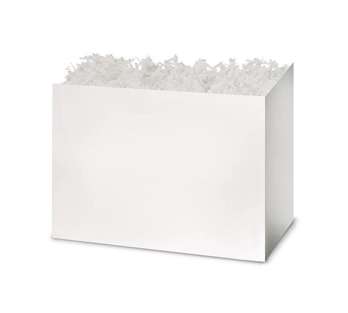 SMALL WHITE BASKET BOX
