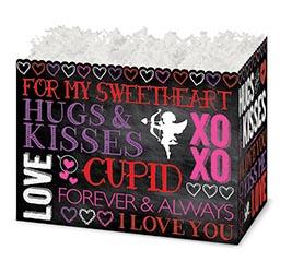 LARGE BOX HUGS  KISSES CHALKBOARD STYLE