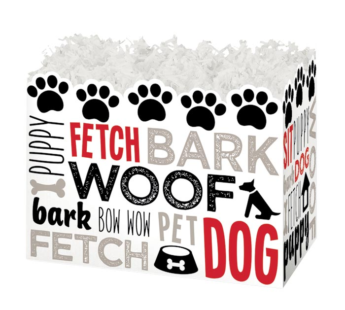 LARGE DOG LOVERS DIE-CUT BASKET BOX