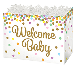 LARGE DIE CUT BOX WELCOME BABY CONFETTI