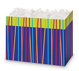 LARGE BOX FESTIVE STRIPES
