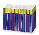 LARGE BOX FESTIVE STRIPES