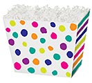 LARGE BOX PAINTED DOTS  STRIPES ANGLED