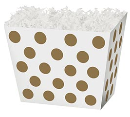 LARGE BOX METALLIC GOLD DOTS ANGLED BOX